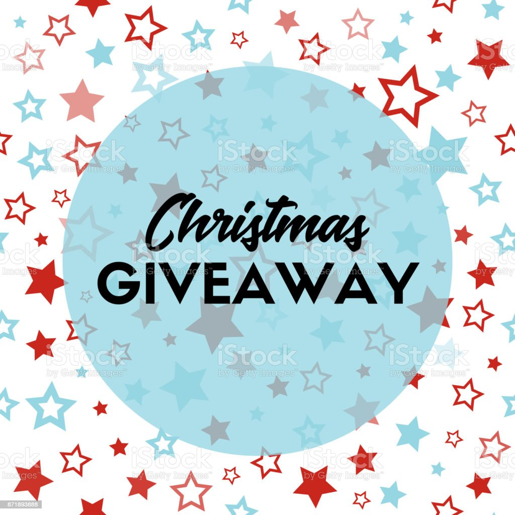 giveaway blogs christmas giveaway banner template for blogs stock vector 9400