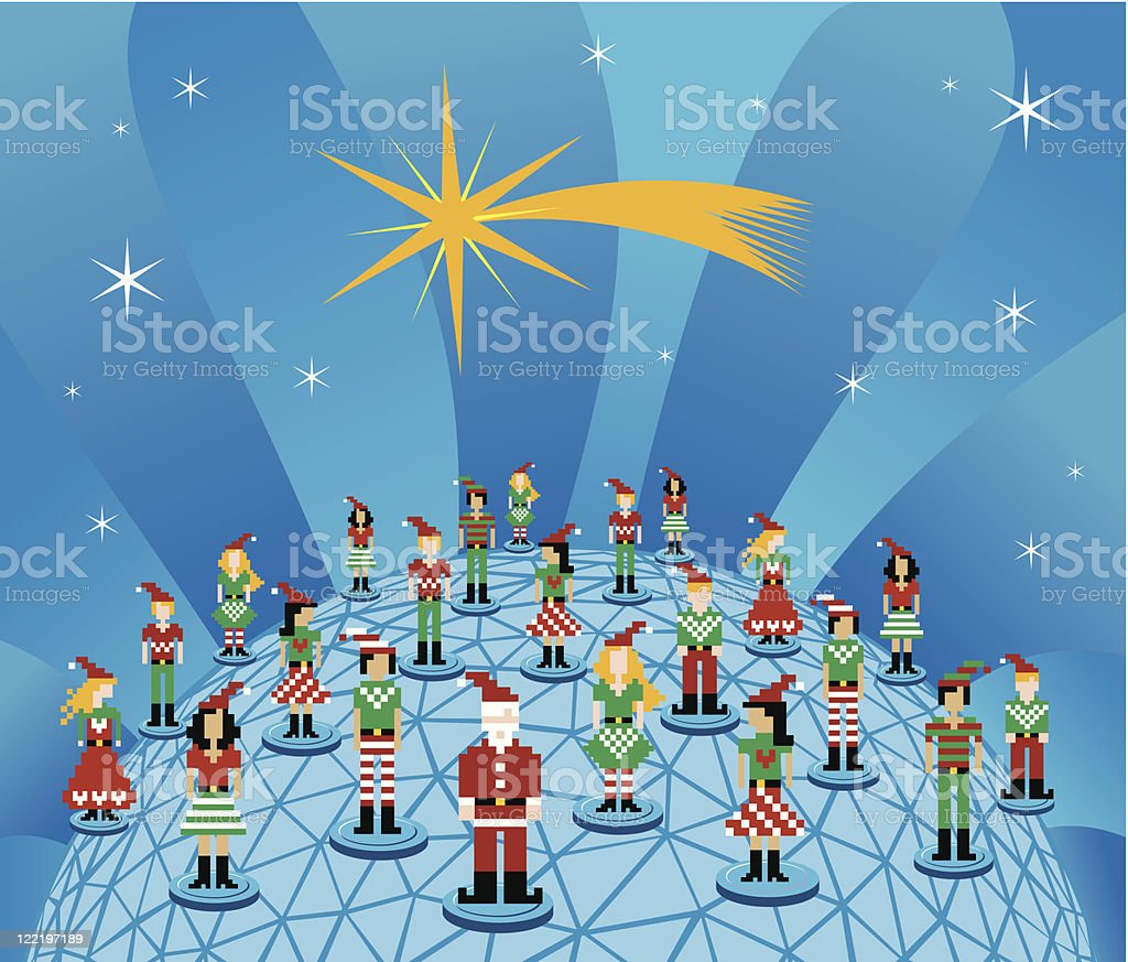 Christmas global social media network royalty-free christmas global social media network stock vector art & more images of abstract