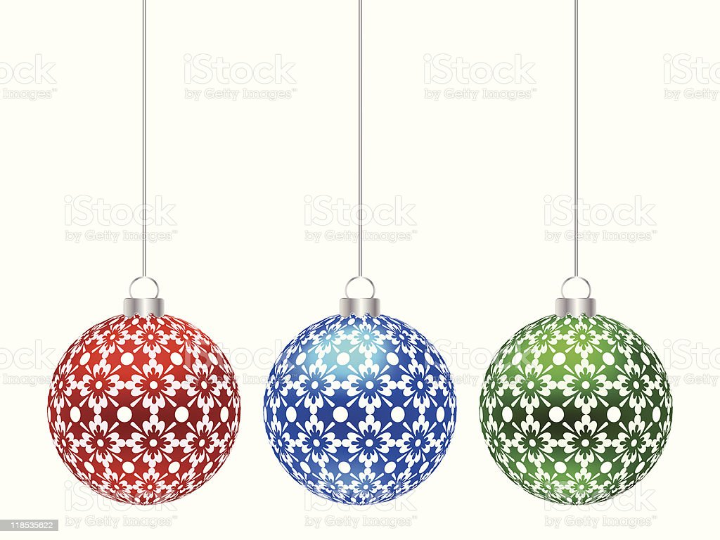 christmas globes royalty-free stock vector art