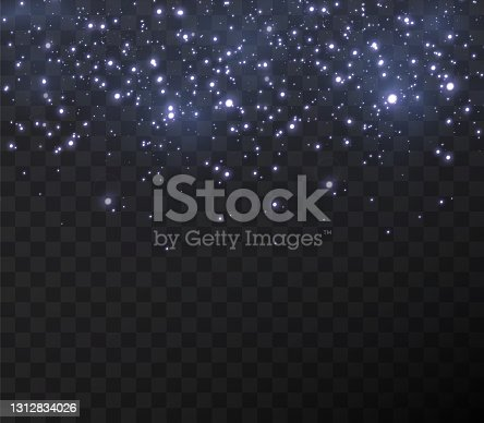 istock Christmas gold confetti stars are falling 1312834026