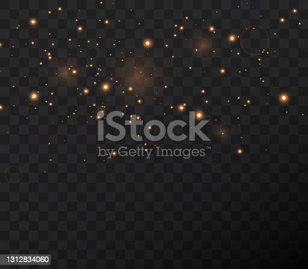 istock Christmas gold confetti stars are falling 1312834060