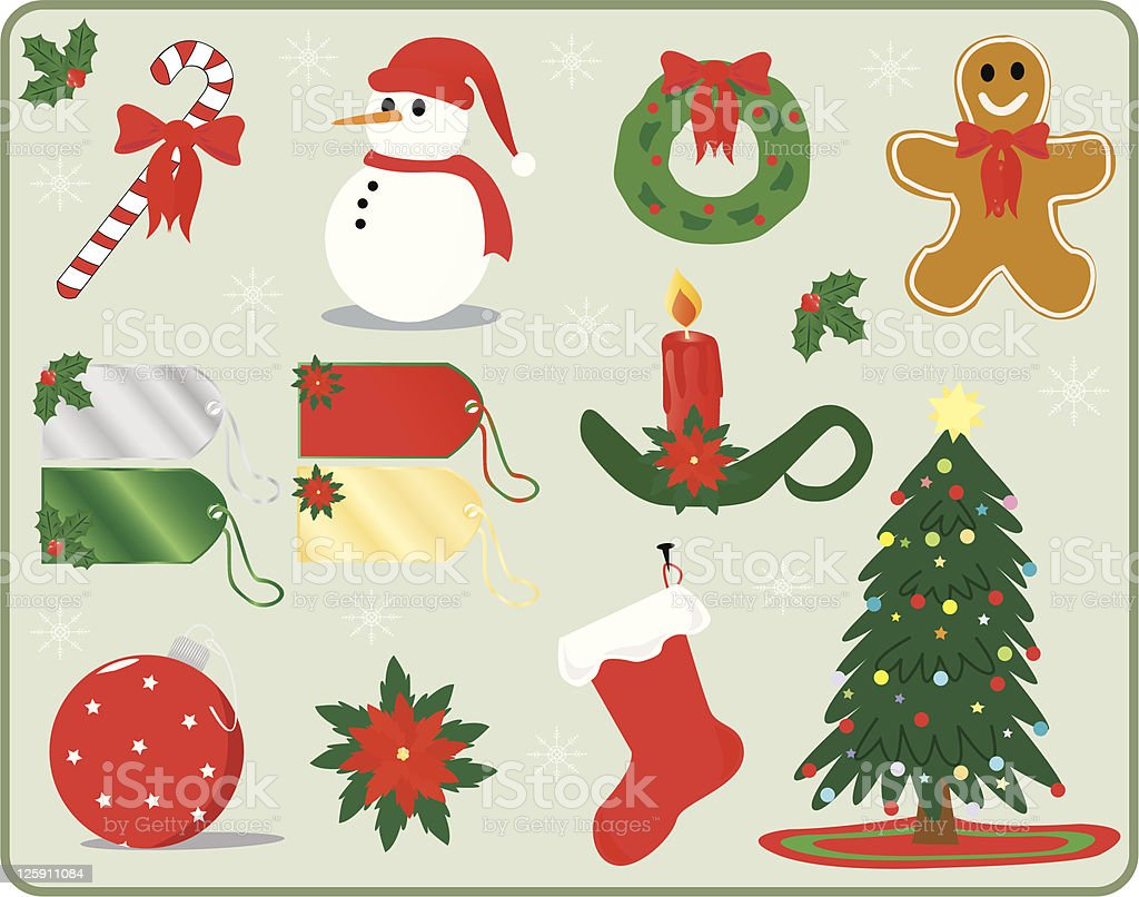 Christmas Goodies royalty-free christmas goodies stock vector art & more images of branch - plant part