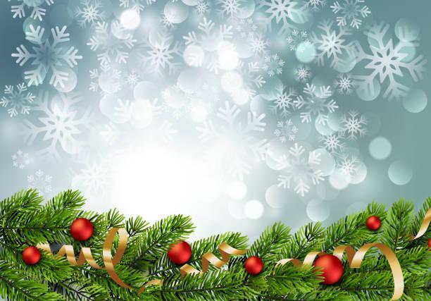 illustrations, cliparts, dessins animés et icônes de branches de pin de noël vert et rouges babioles - vitrine magasin