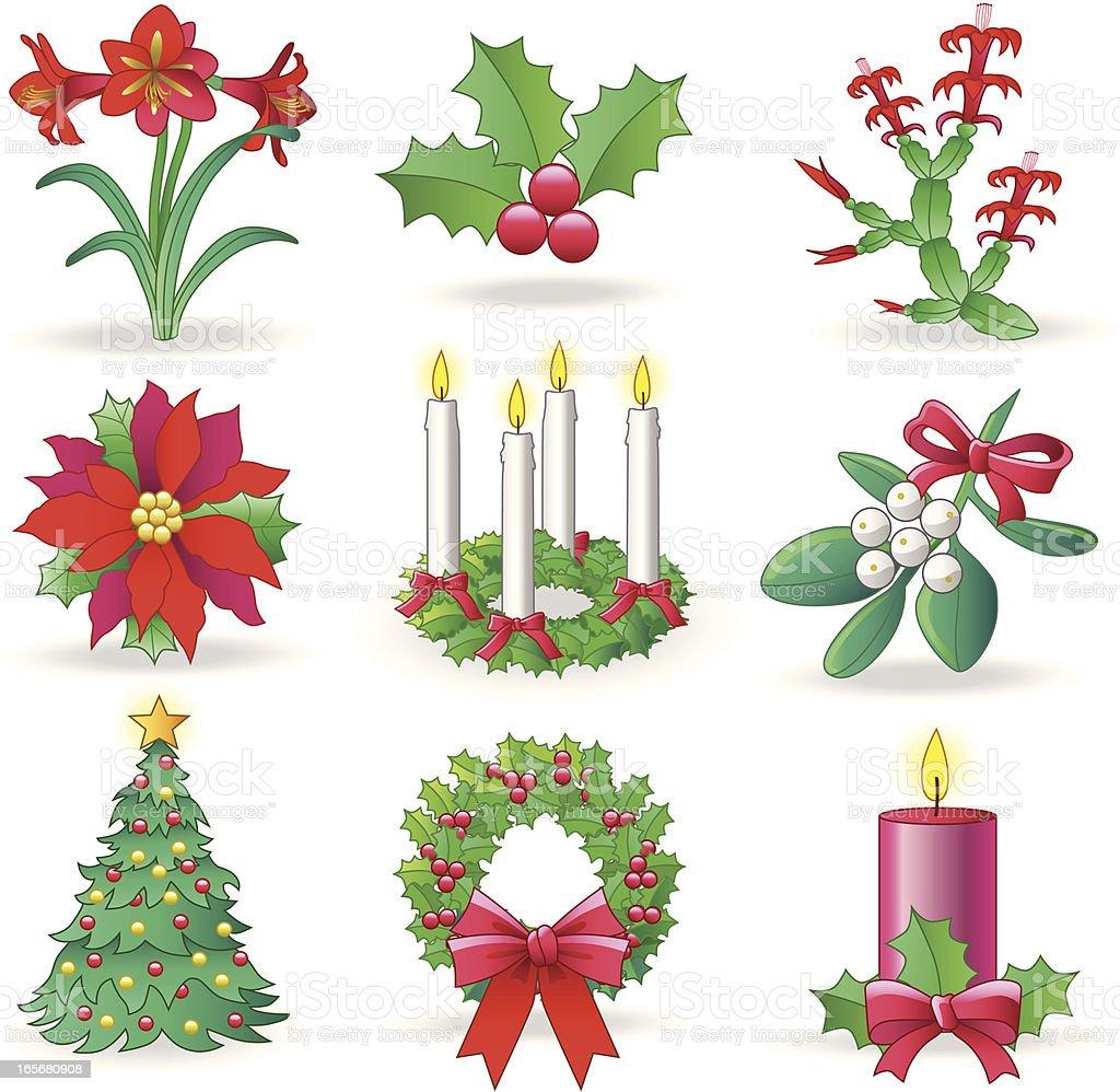 Christmas Greenery Vector.Christmas Greenery Stock Illustration Download Image Now