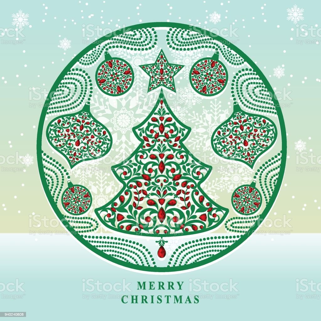 Christmas Greeting And New Years Card Templates With Gold Patterned