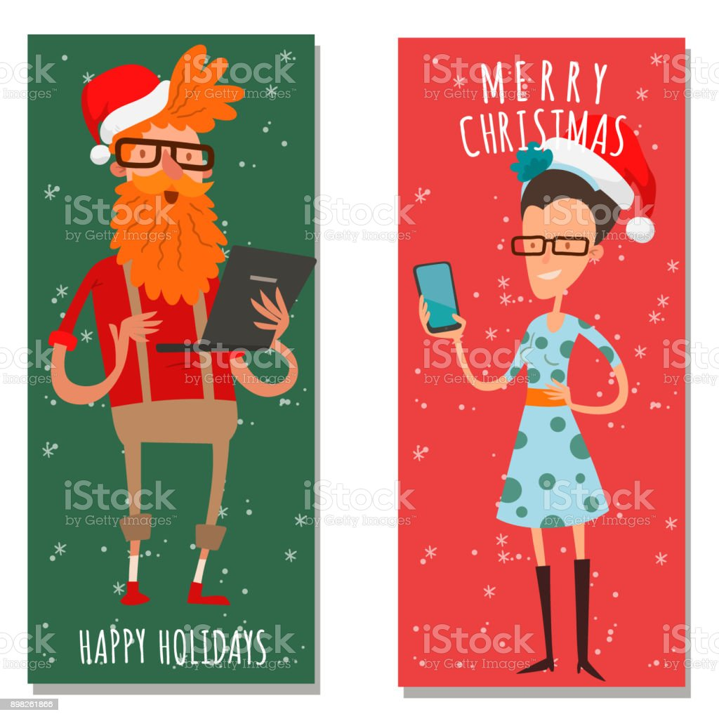 Christmas greeting card business people vector background banner christmas greeting card business people vector background banner holidays winter xmas hand draw businessman congratulation new kristyandbryce Image collections