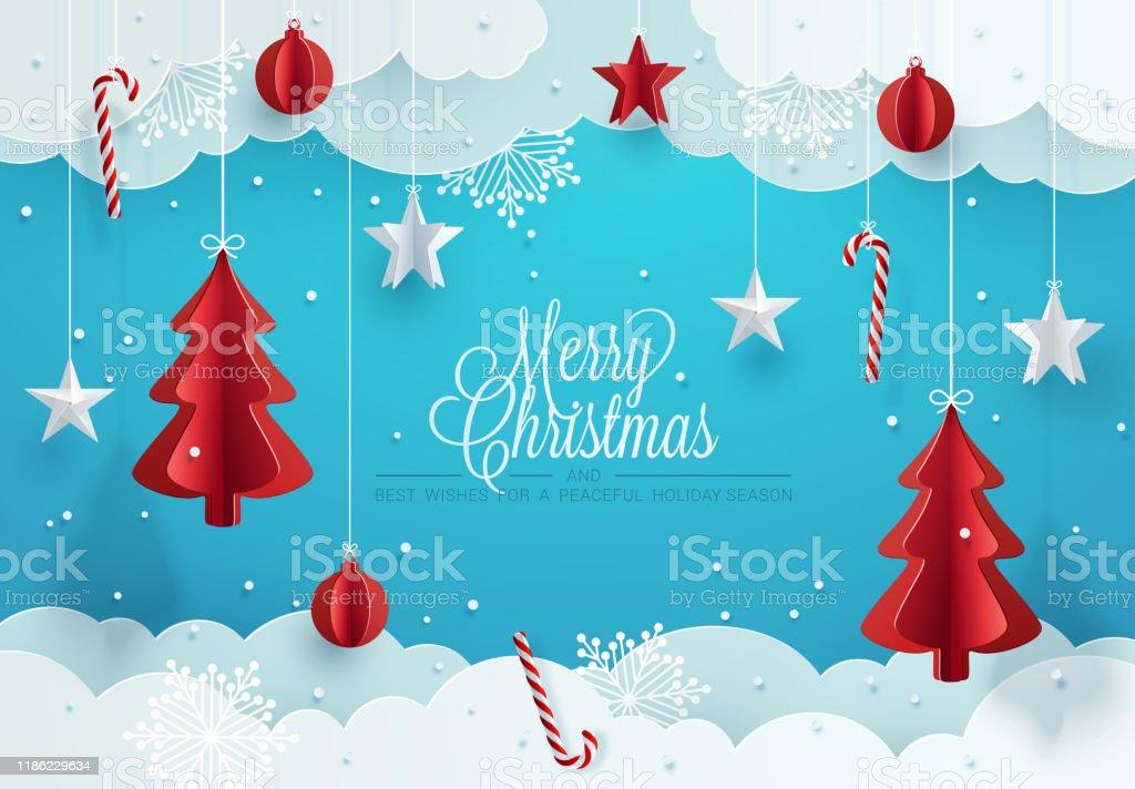 Design do cartão de Natal. - Vetor de 2020 royalty-free
