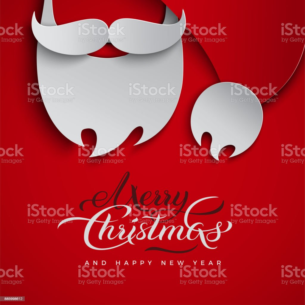 Christmas Greeting Card Design With Santa Claus For Holiday Event