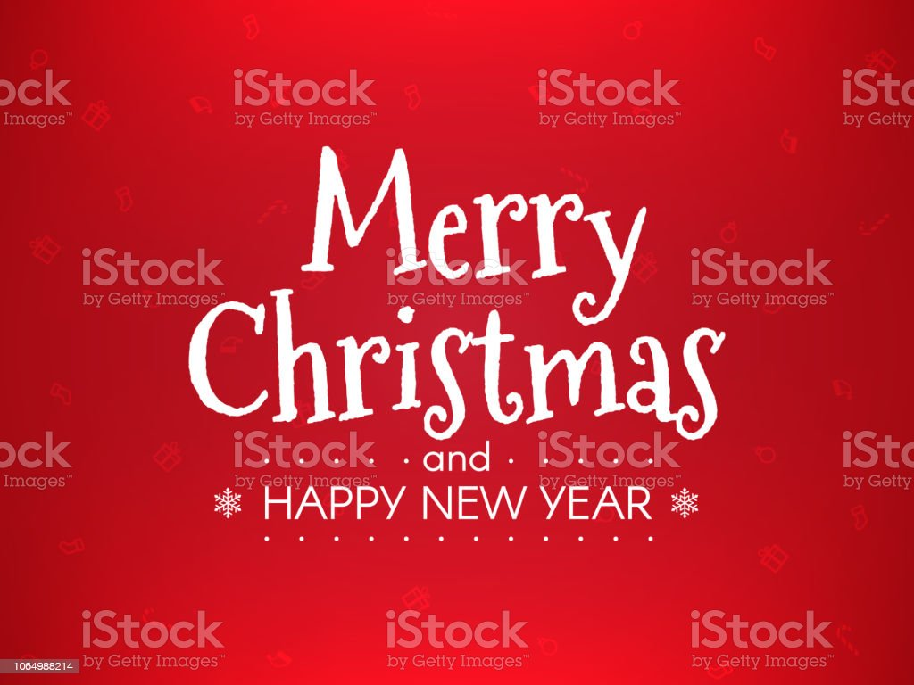 happy new year concept on red background wrapping template with xmas
