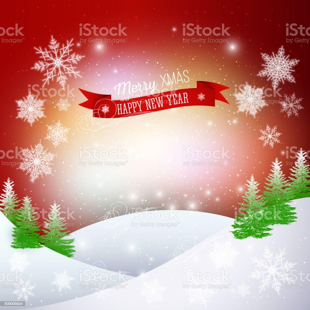 Weihnachten Grußkarte Frohe Weihnachten Und Happy New ...