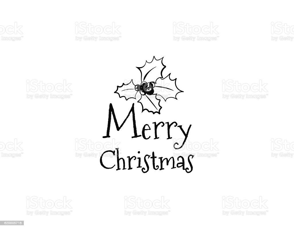 Christmas greeting card mistletoe merry christmas lettering stock mistletoe merry christmas lettering royalty free christmas greeting card mistletoe merry buycottarizona Image collections