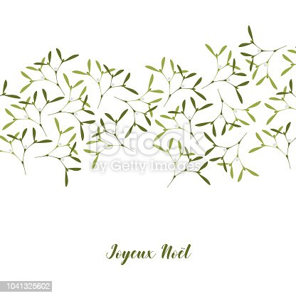 Christmas greeting card mistletoe on white background text in french christmas greeting card mistletoe on white background text in french joyeux noel in english merry christmas stock vector art more images of backgrounds m4hsunfo
