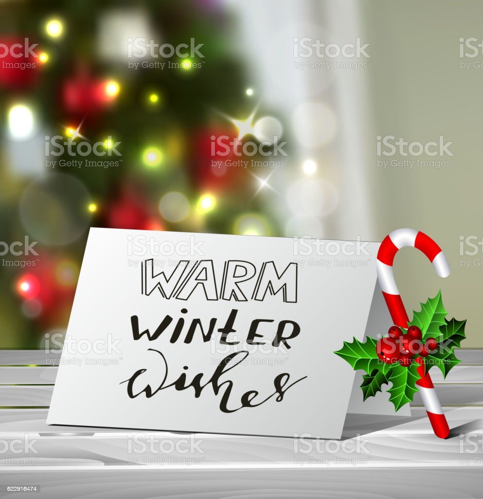 Christmas greeting card mock up stock vector art more images of christmas greeting card mock up royalty free christmas greeting card mock up stock vector art m4hsunfo