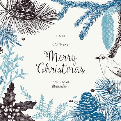 Christmas greeting card or invitation design.