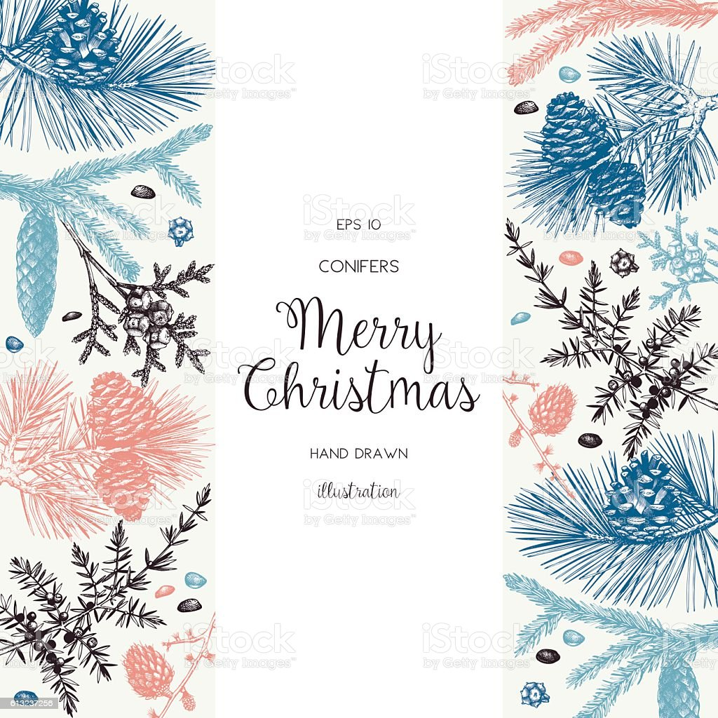 Christmas greeting card or invitation design. vector art illustration