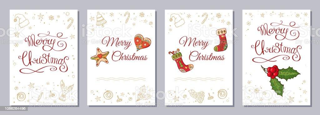 Ilustración De Navidad Tarjeta De Felicitación O Invitación