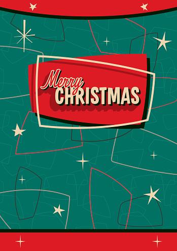 Christmas Greeting Card Retro Style