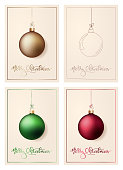 A set of simple, elegant Christmas greeting cards. EPS10 vector illustration, global colors, easy to modify.