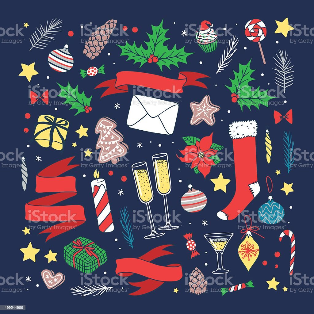Christmas Greeting Card Vector Background Stock Illustration Download Image Now Istock