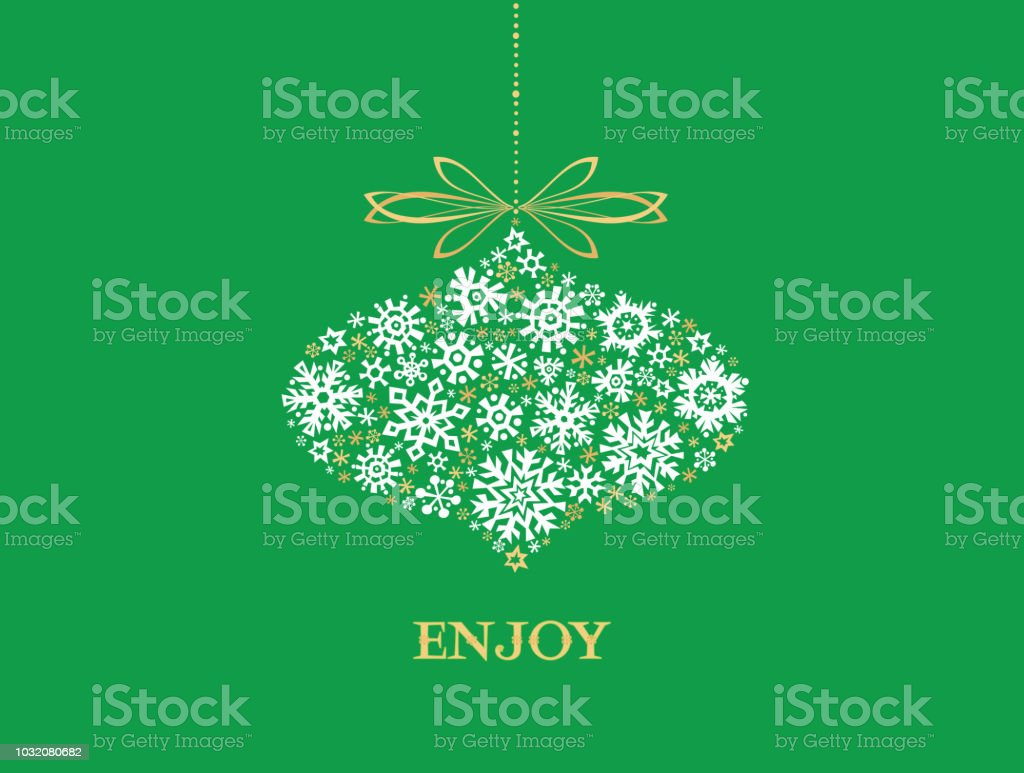 Christmas Greeting Card vector art illustration