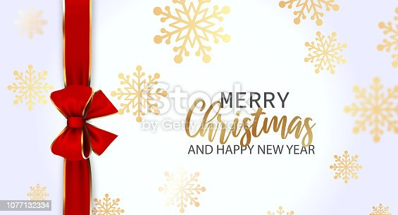 Christmas greeting card on Black Background