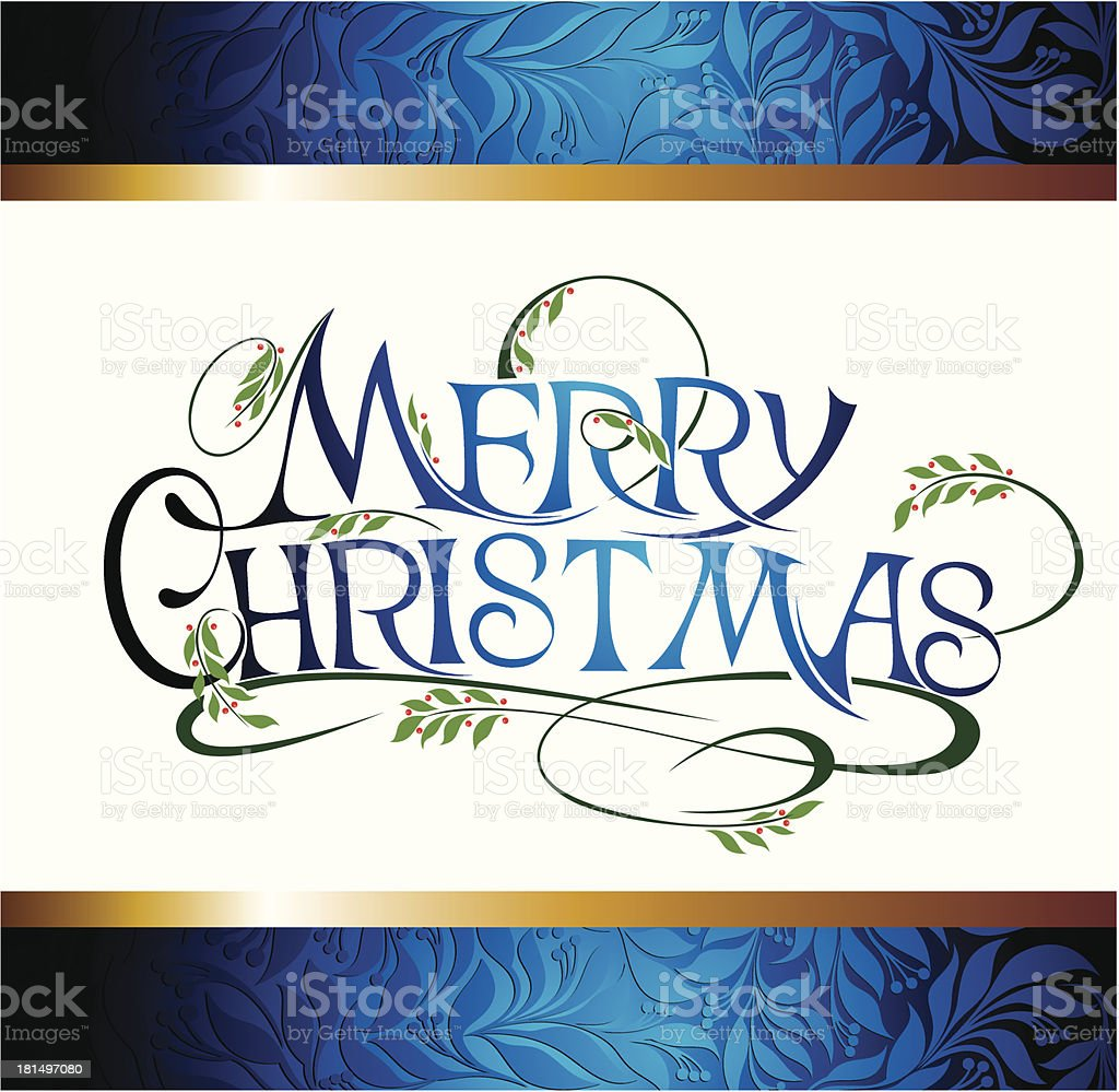 Christmas Greeting Card royalty-free stock vector art