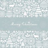 Christmas Greeting Card. Vintage Christmas and  New Year elements.