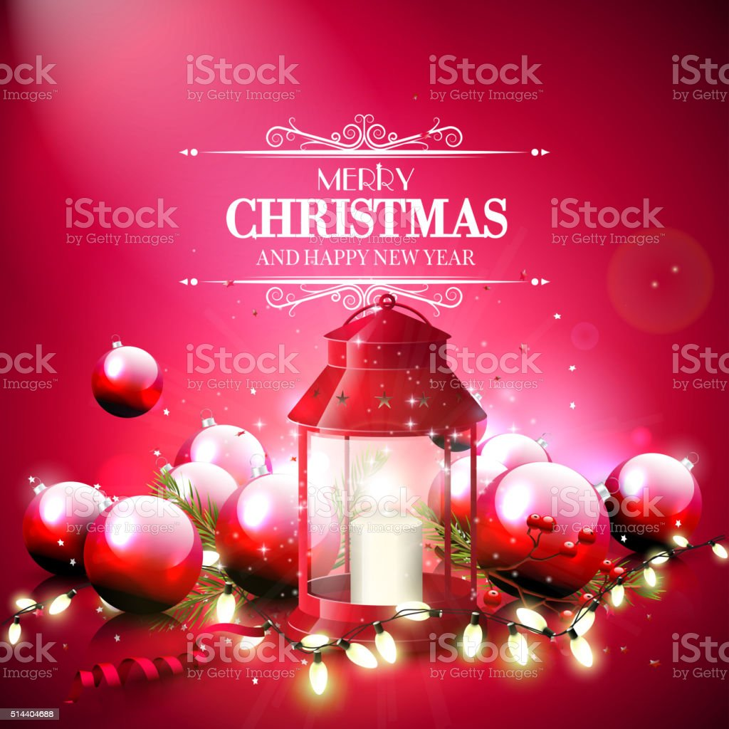 Christmas Greeting Card Stock Vector Art More Images Of Berry