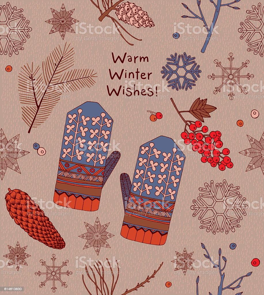 Christmas Greeting Card. vector art illustration