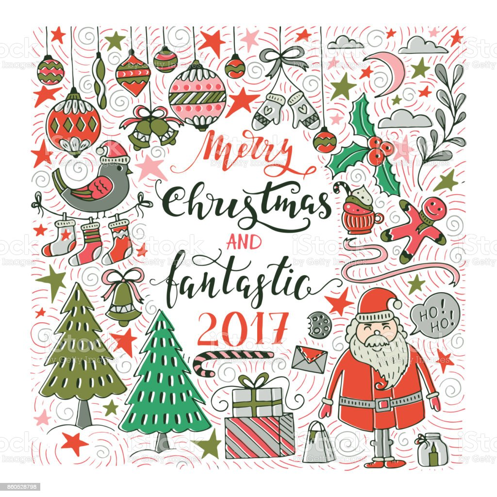 Christmas greeting card stock vector art more images of 2017 christmas greeting card royalty free christmas greeting card stock vector art amp more images kristyandbryce Images