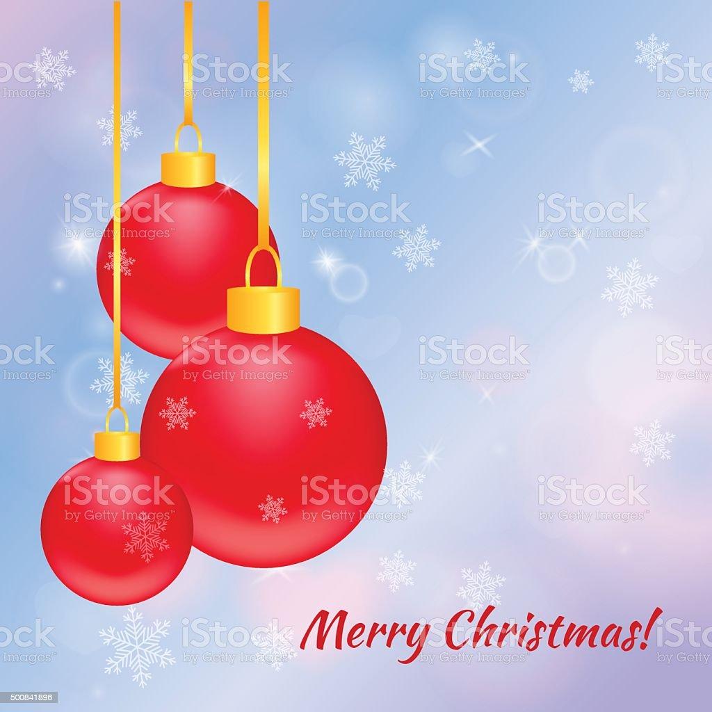 Christmas greeting card. Vector illustration. vector art illustration