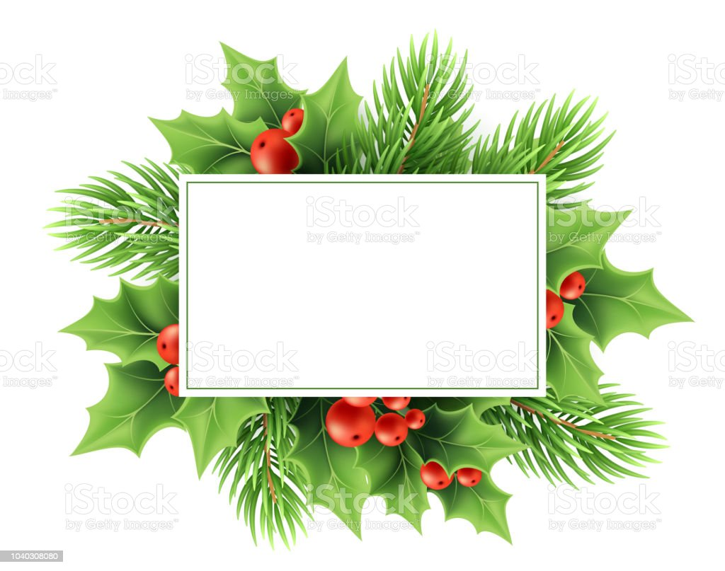 Christmas Greeting Card Vector Template Stock Vector Art More