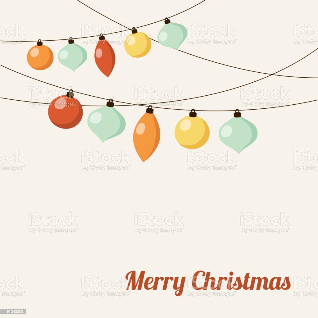 Christmas greeting card with garland christmas balls vector stock christmas greeting card with garland christmas balls vector royalty free christmas greeting card kristyandbryce Images