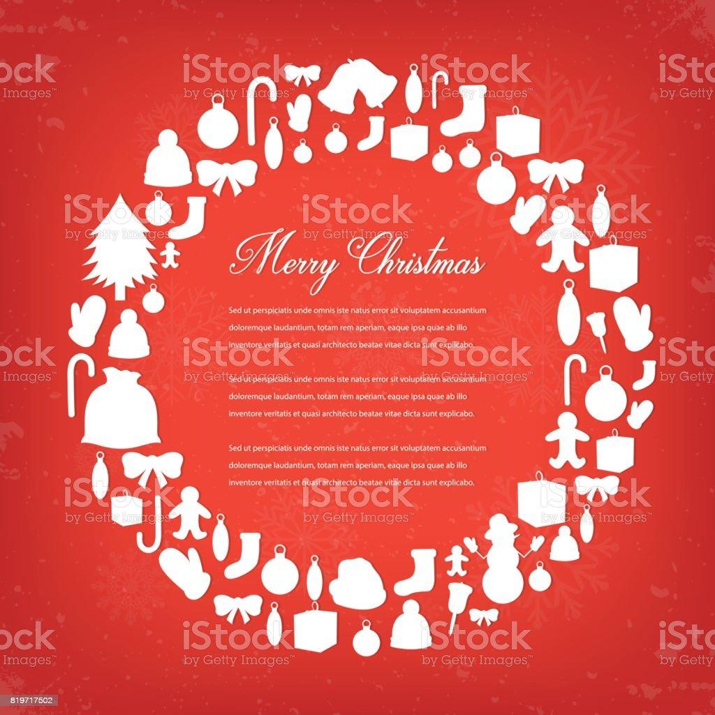 Weihnachtsgrußkarte Mit Frohe Weihnachten Und Frohes Neues Jahr ...