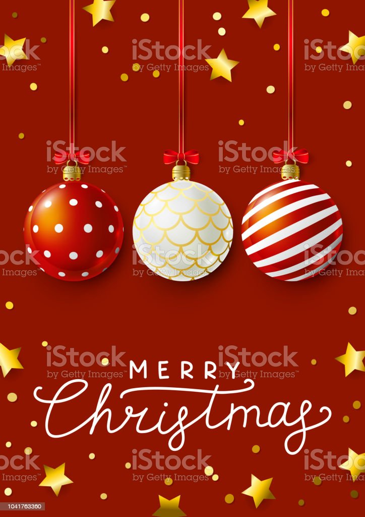 Christmas greeting card with red xmas balls stock vector art more christmas greeting card with red xmas balls royalty free christmas greeting card with red xmas m4hsunfo