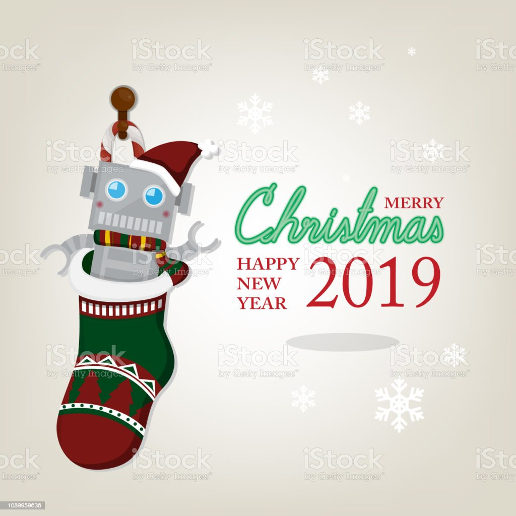 2019 Weiße Weihnachten.Weihnachtsgrußkarte Mit Spielzeug In Weihnachtssocke Auf Weiße