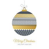 Christmas greeting card with Washi Tape. stock illustration