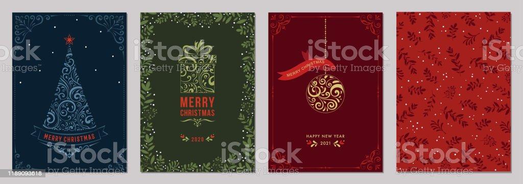 Jul gratulationskort och Templates_12 - Royaltyfri Affisch vektorgrafik