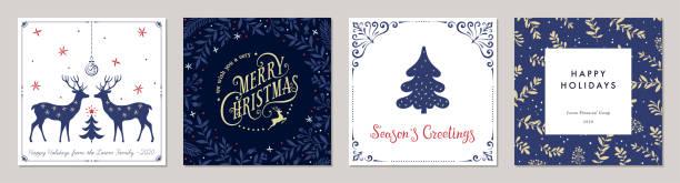 bildbanksillustrationer, clip art samt tecknat material och ikoner med jul gratulationskort och templates_15 - christmas card