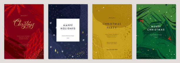bildbanksillustrationer, clip art samt tecknat material och ikoner med jul gratulationskort och templates_17 - christmas card