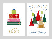 Christmas Greeting Cards Collection - Illustration. Stock illustration