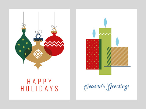 Christmas Greeting Cards Collection - Illustration.