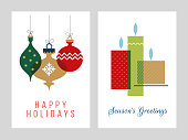 istock Christmas Greeting Cards Collection - Illustration. 1181843087