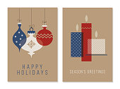 Christmas Greeting Cards Collection. - Illustration