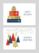 Christmas Greeting Cards Collection - Illustration