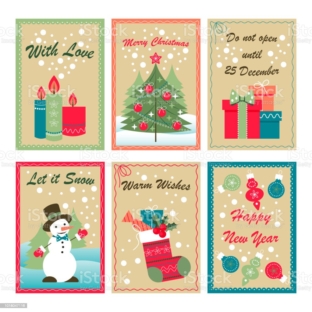 Download Christmas Cards.Christmas Greeting Cards Stock Illustration Download Image