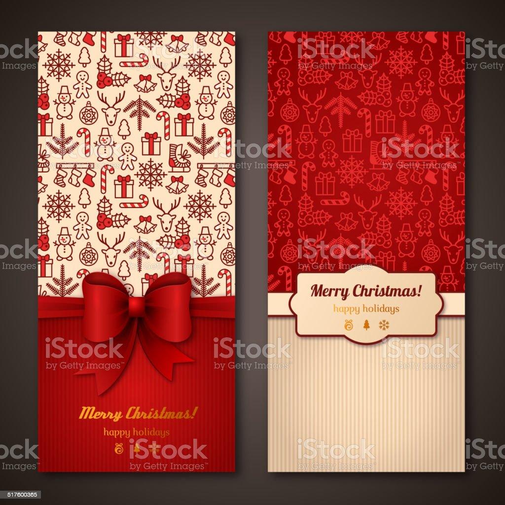 Christmas greeting cards. Vector illustration. vector art illustration