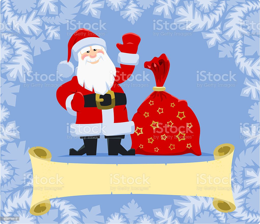 Christmas greeting from Santa royalty-free stock vector art