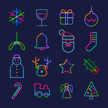 Christmas Greeting Icon Set