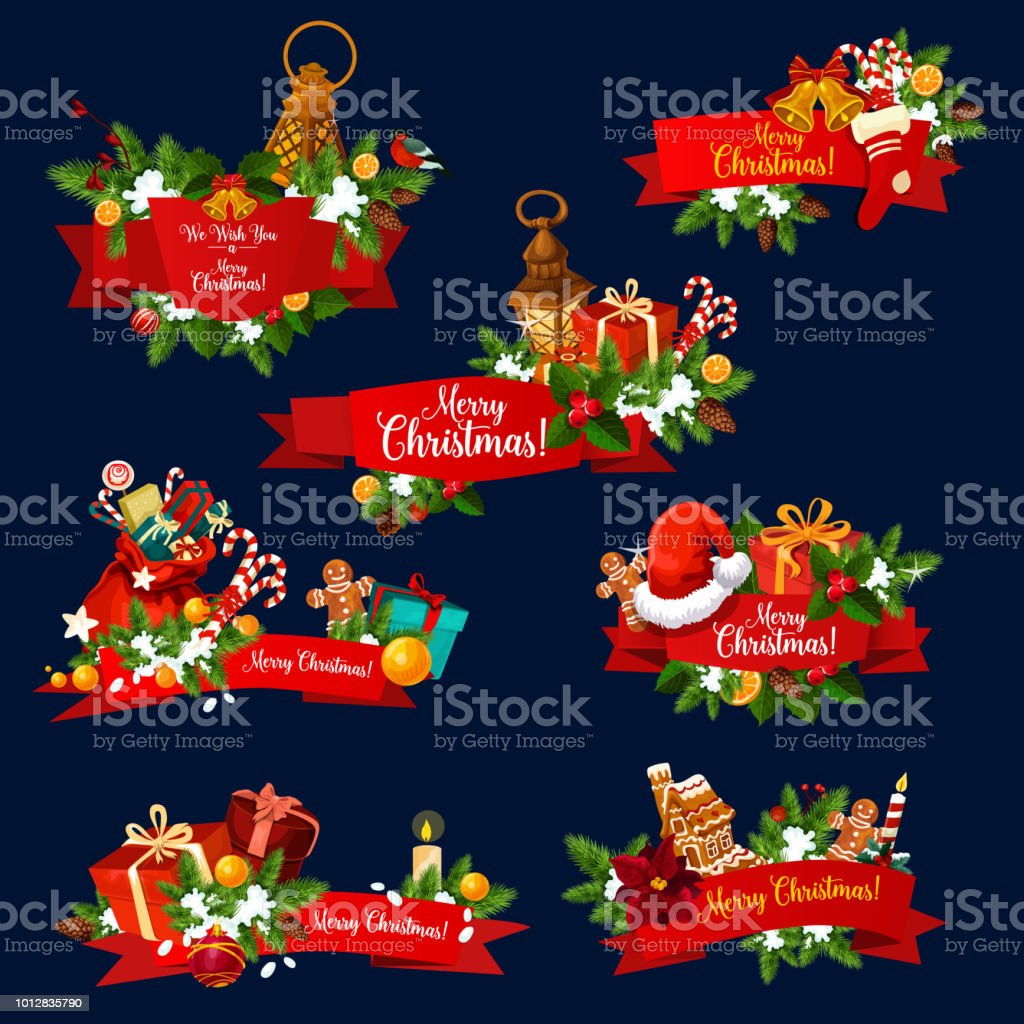 christmas greeting ribbon banner of new year card royalty free christmas greeting ribbon banner of